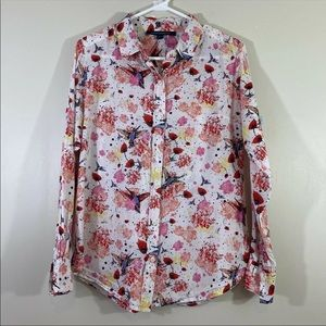 French Connection Women Summer Button Front Shirt